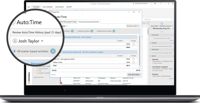 law firm time recording software