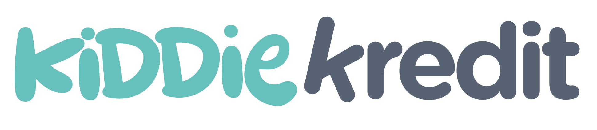 Kiddie Kredit logo in green and gray