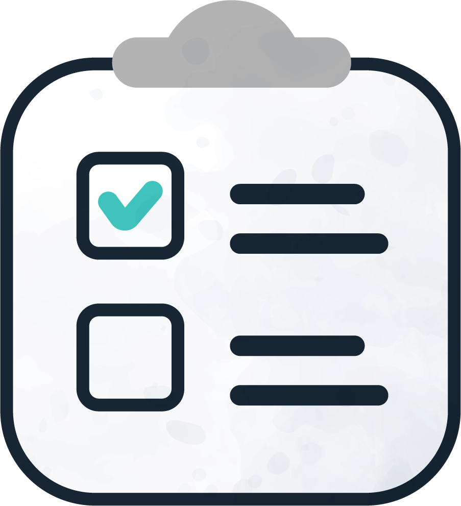A reports clipboard for Kiddie Kredit icon