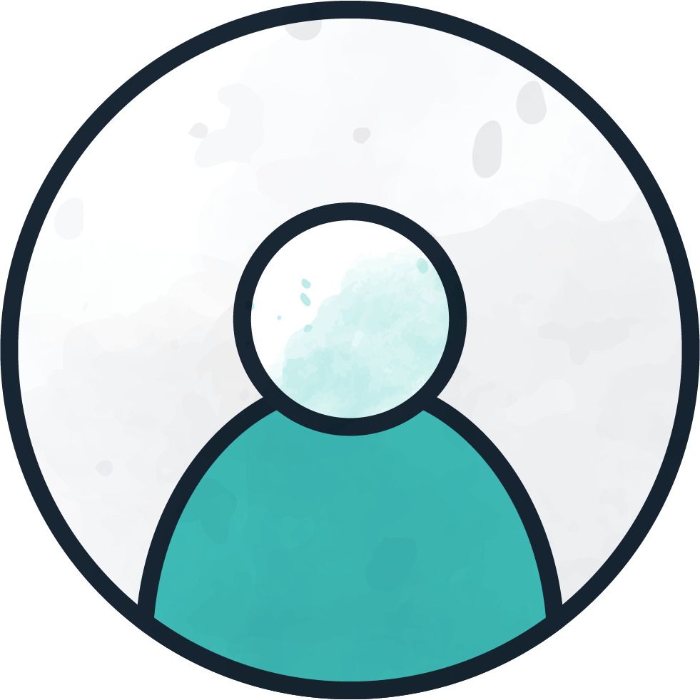 An account profile icon for a person