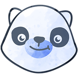 Kiddie Kredit panda bear head favicon