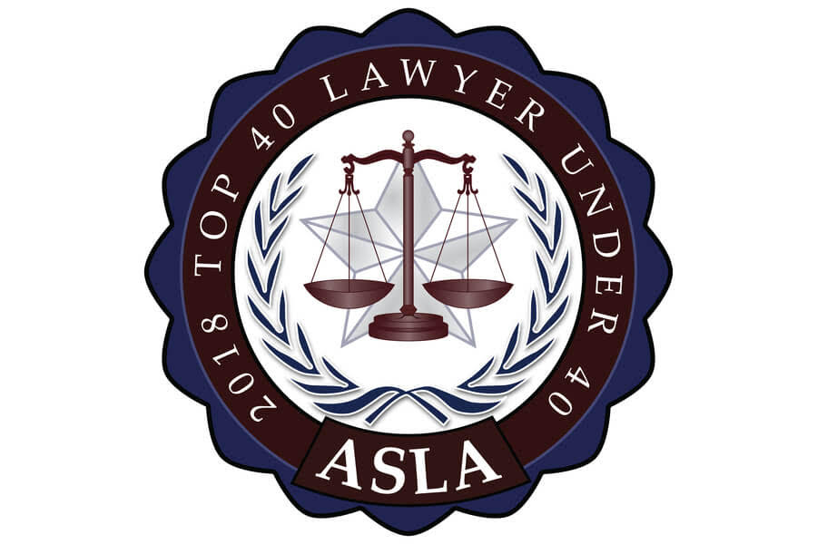Top 40 Under 40 Lawyers Badge