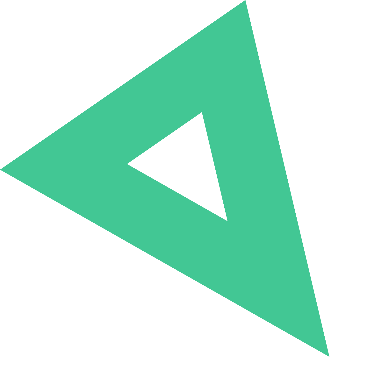 green decorative triangle