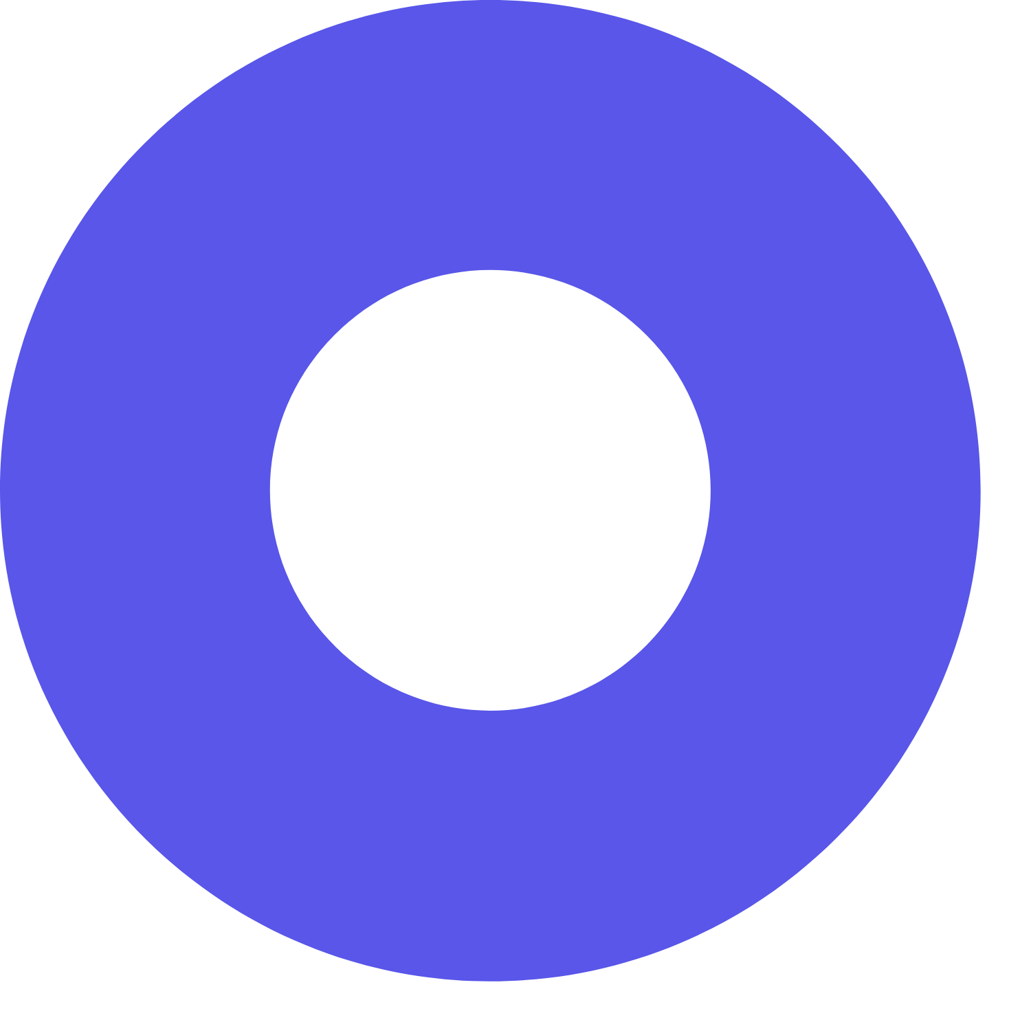 blue decorative circle