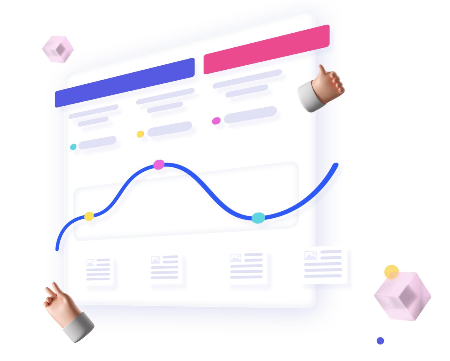 Cubb customer research platform illustration