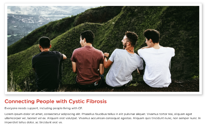 Connecting people with cystic fibrosis