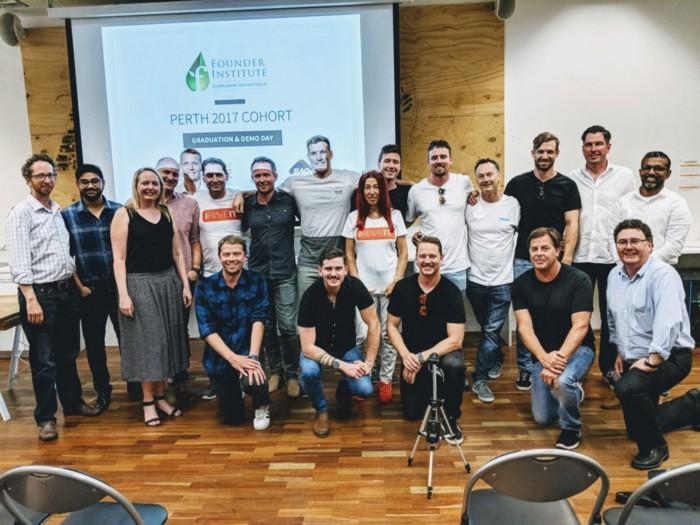 The graduating team of the 2017 Founder Institute Perth program