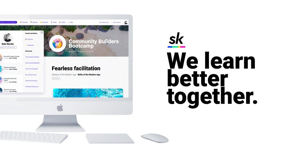 SkillSocial online facilitation platform homepage