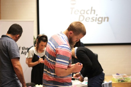 Group of educators at a Teach by Design bootcamp workshop