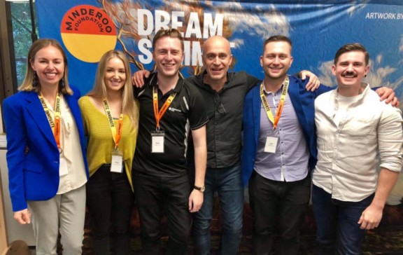 The Dream Summit organising team + Facebook (left-to-right): Incoming Generation One CEO, Shelley Cable; Chloë Constantinides; Peter Murdoch, Advisor for Generation One; Stephen Scheeler, former Facebook CEO A&NZ; Les Delaforce, Dreamblocks; Nate Sturcke, Skills of the Modern Age