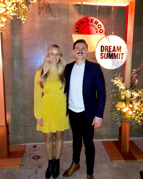 Chloë Constantinides Advisor for Generation One and Nate Sturcke, Skills of the Modern Age attending the Dream Summit, Australia