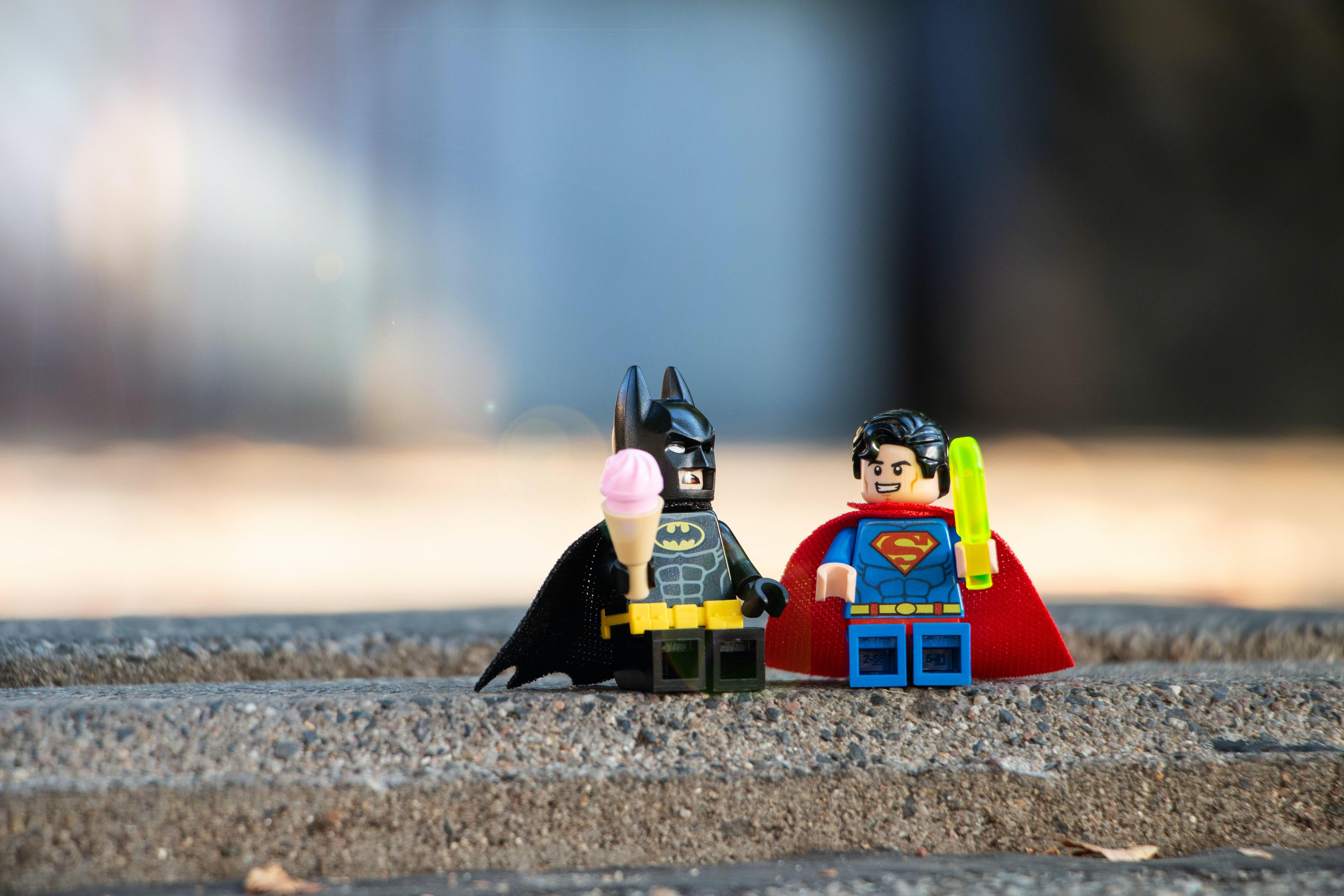 Batman and Superman figurines