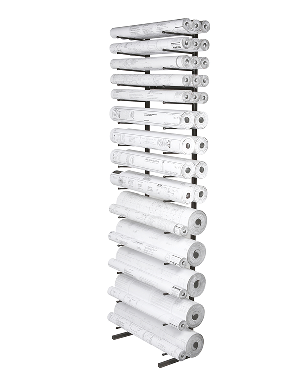 Rolled Blueprint Storage Rack