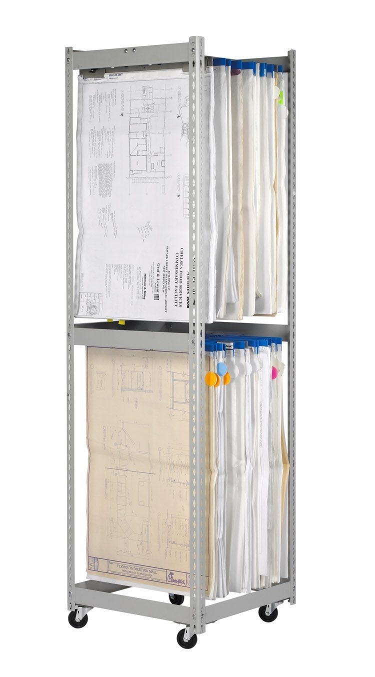 2-Tier X-Span File Storage Rack