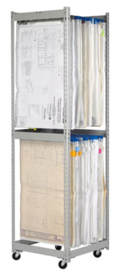 2-Tier Blueprint Storage Rack