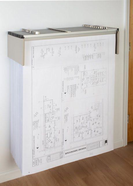 Traditional Drop Lift Wall Blueprint Rack