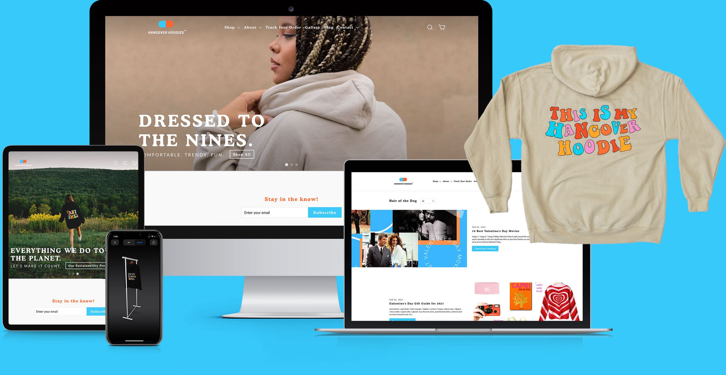Hangover Hoodies E-Commerce Web Development Marketing