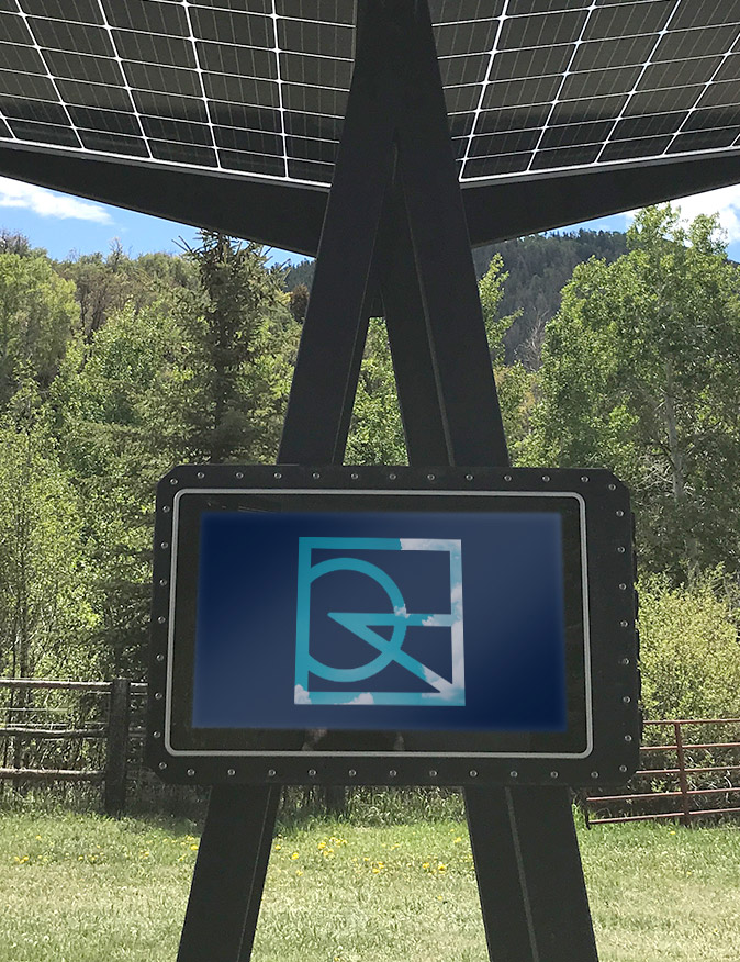 Skyhook Solar Station with E-Ink Screen