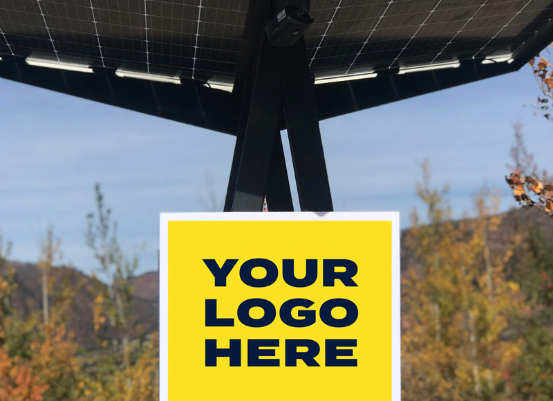 Skyhook Solar Station advertise with us sign
