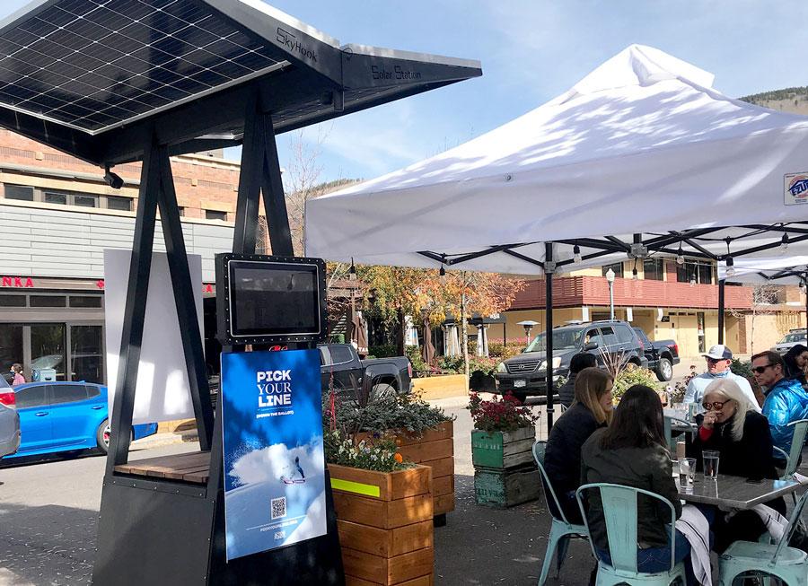 D2 Skyhook Solar Station outdoor dining