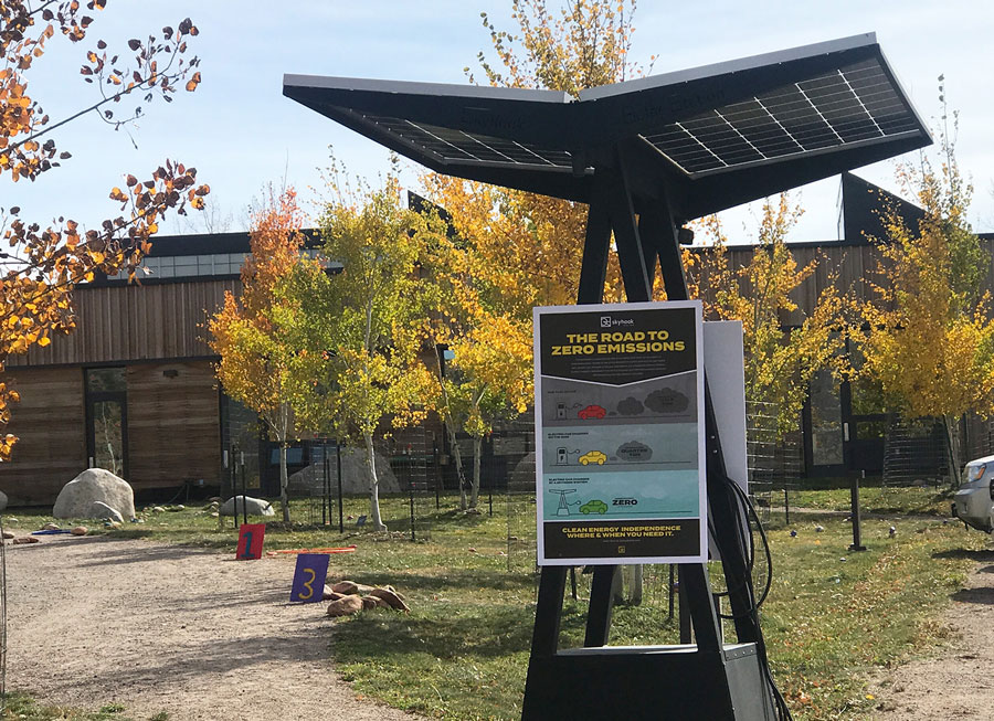 D2 Skyhook Solar Station at a community school