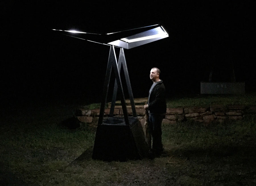 Skyhook Solar D2 Station at night