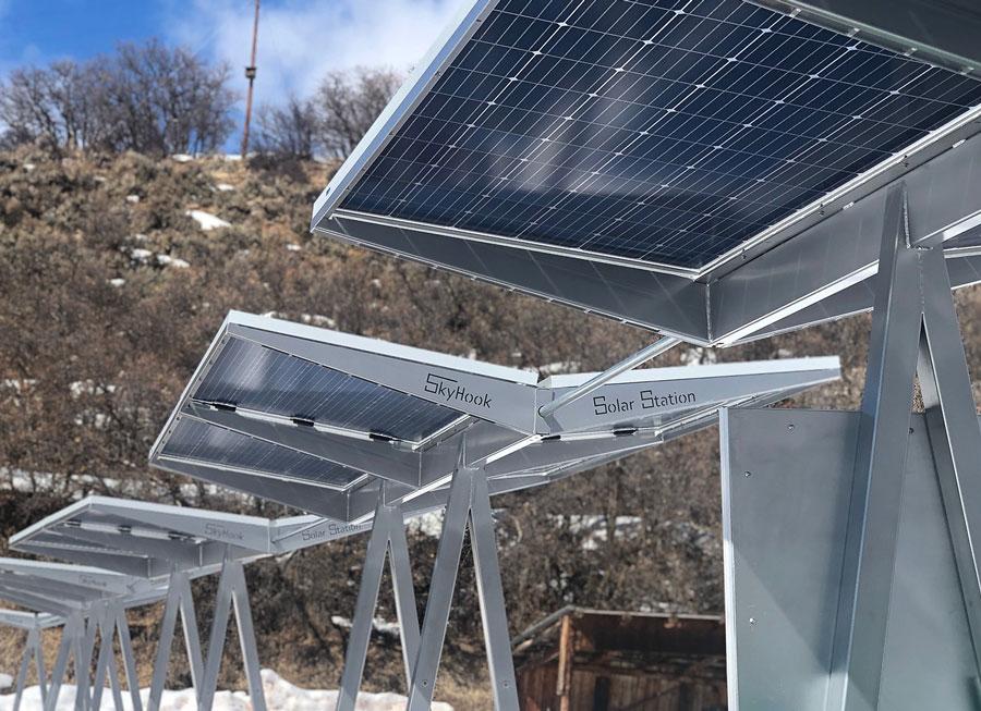 Skyhook Solar D4 Station strung together