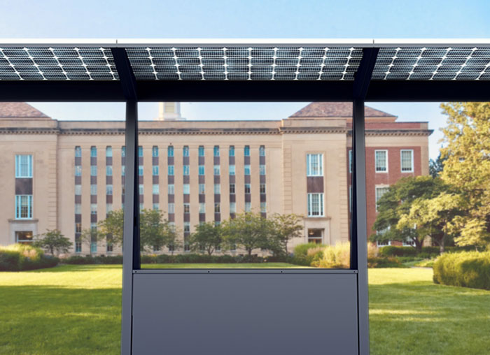 Skyhook Solar D6 Station at a university