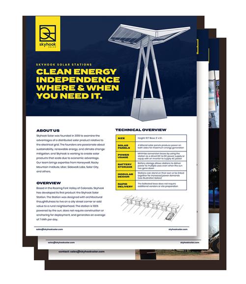 Skyhook Solar Data Sheets