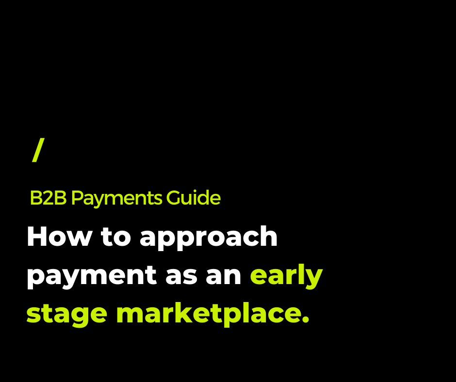 How to approach payments as an early B2B marketplace.