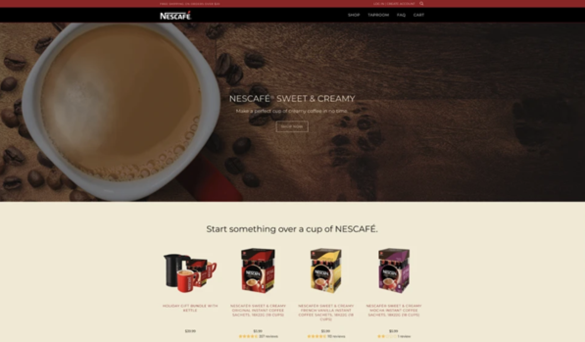 Nescafe – example of one of the most successful DTC brands.