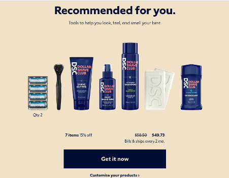 Dollar Shave Club is a classic example of DTC sales done well.