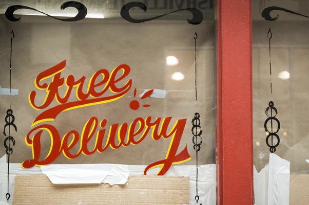 Free delivery is one of the incentives used in eCommerce logistics & pricing