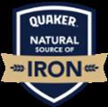 'Quaker is a natural source of iron' emblem