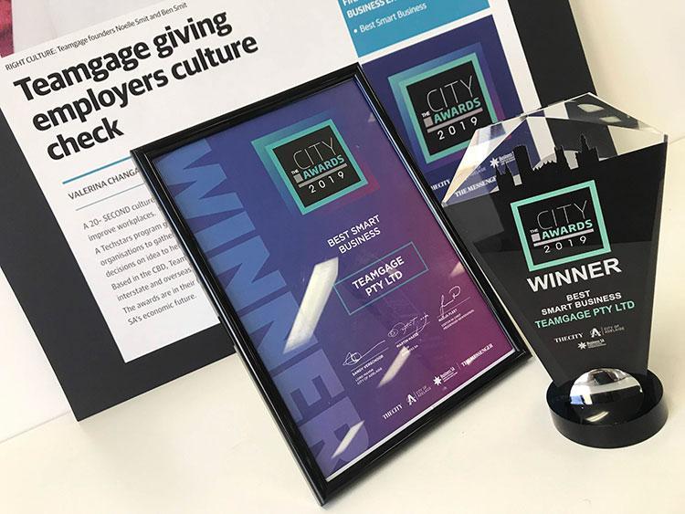Teamgage wins the Best Smart Business Award