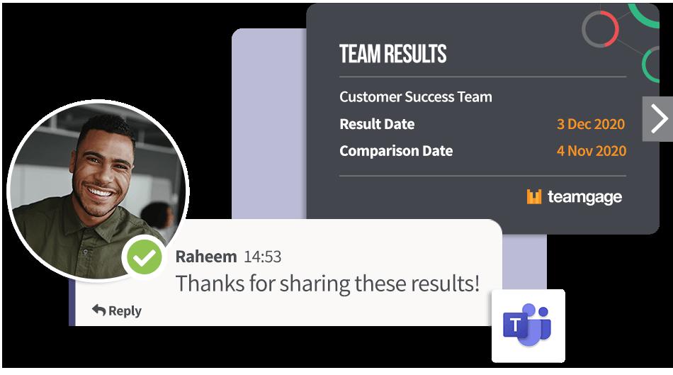 Teamgage results