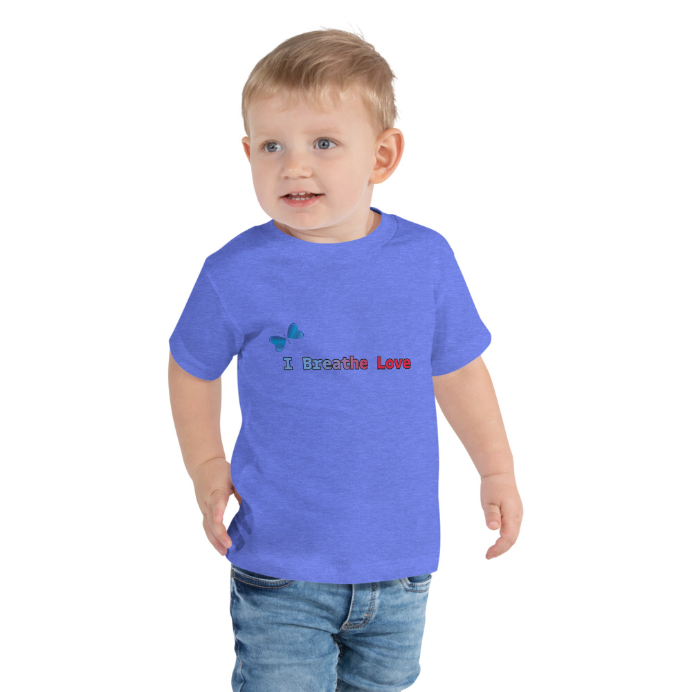I Breathe Love Toddler Short Sleeve Tee