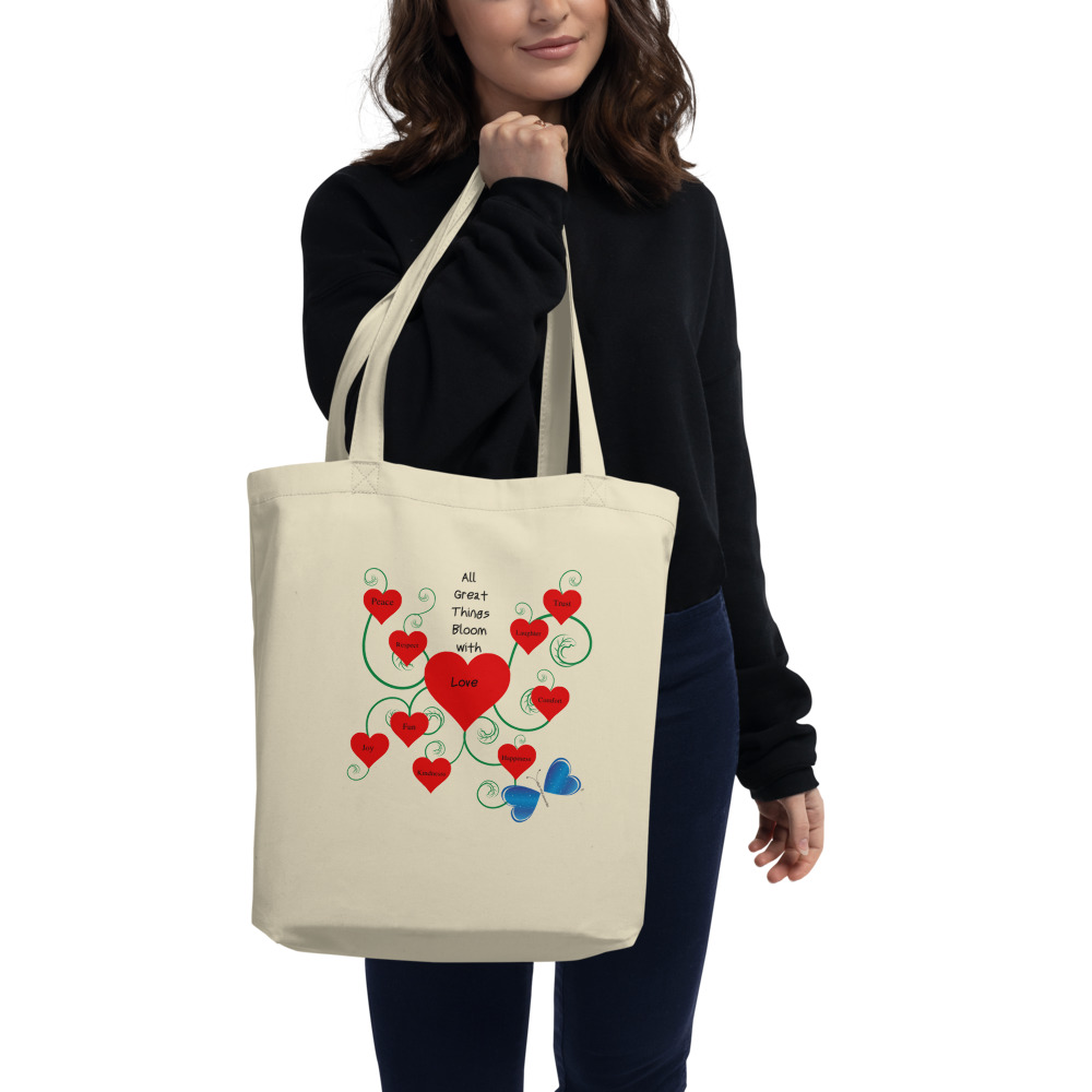 Bloomin' with Love  Eco Tote Bag