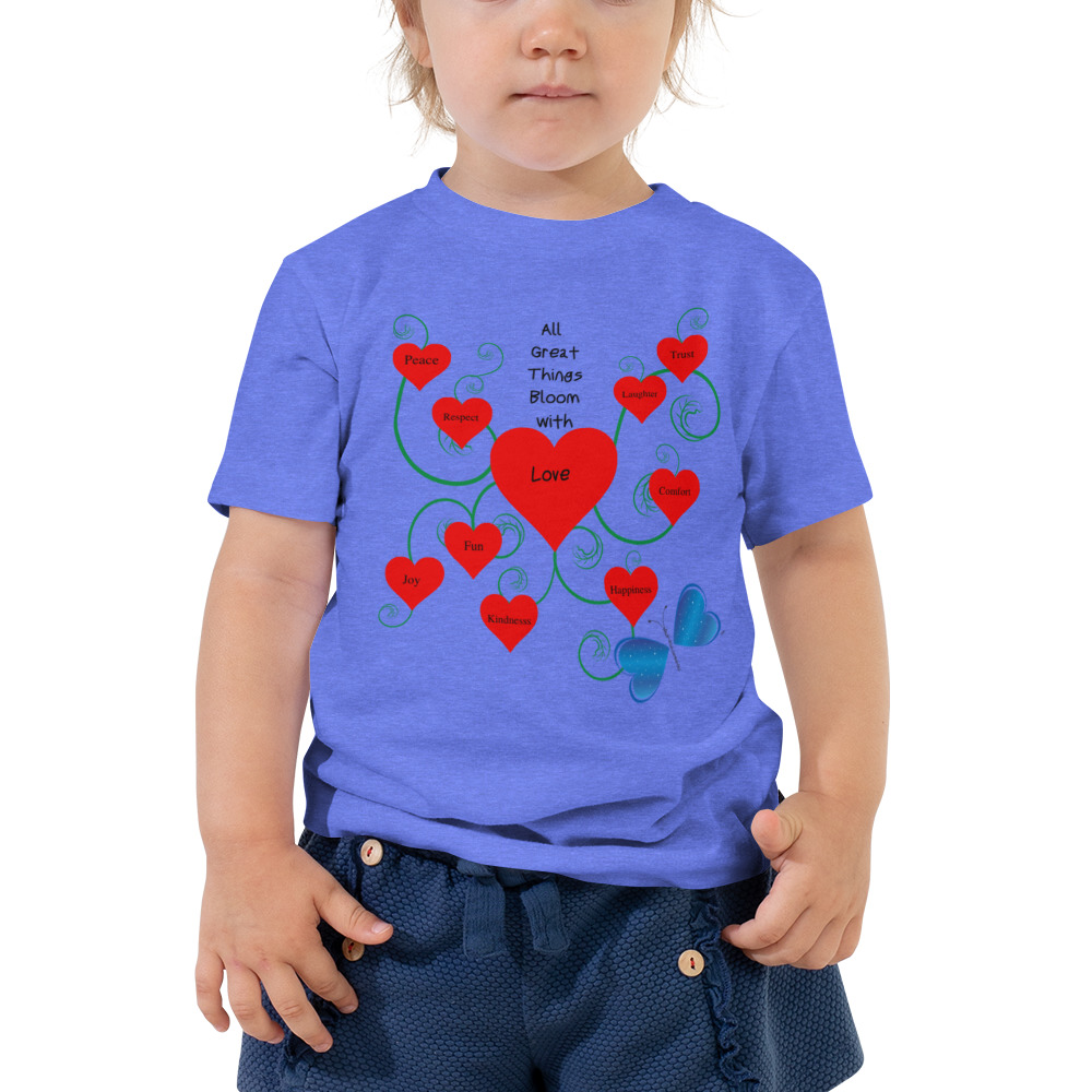Bloomin' with Love Toddler Short Sleeve Tee