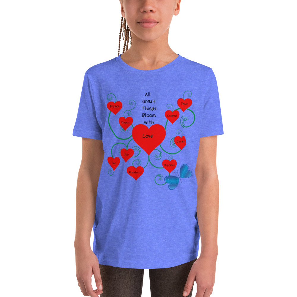 Bloomin' with Love Youth Short Sleeve T-Shirt