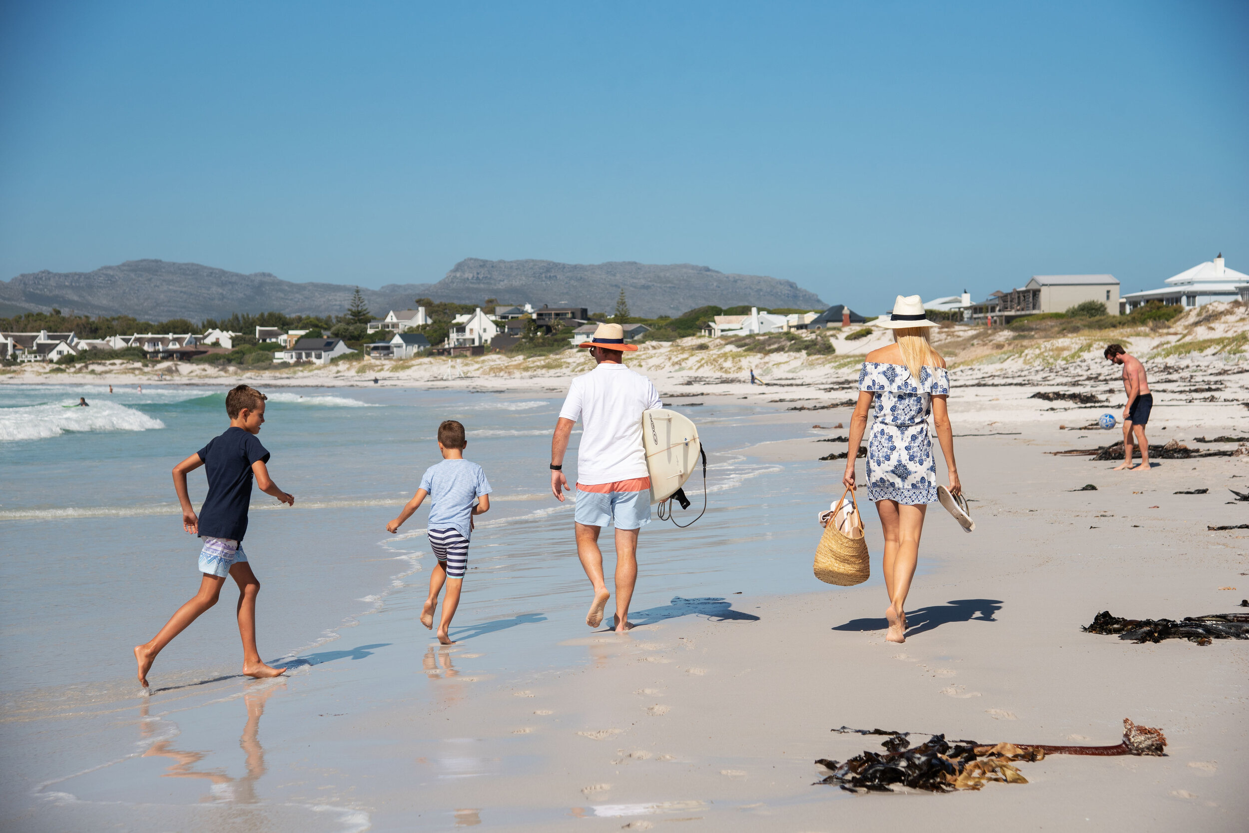 Cape Town is known for its beautiful beaches, pictured here is Long Beach in Kommetjie.