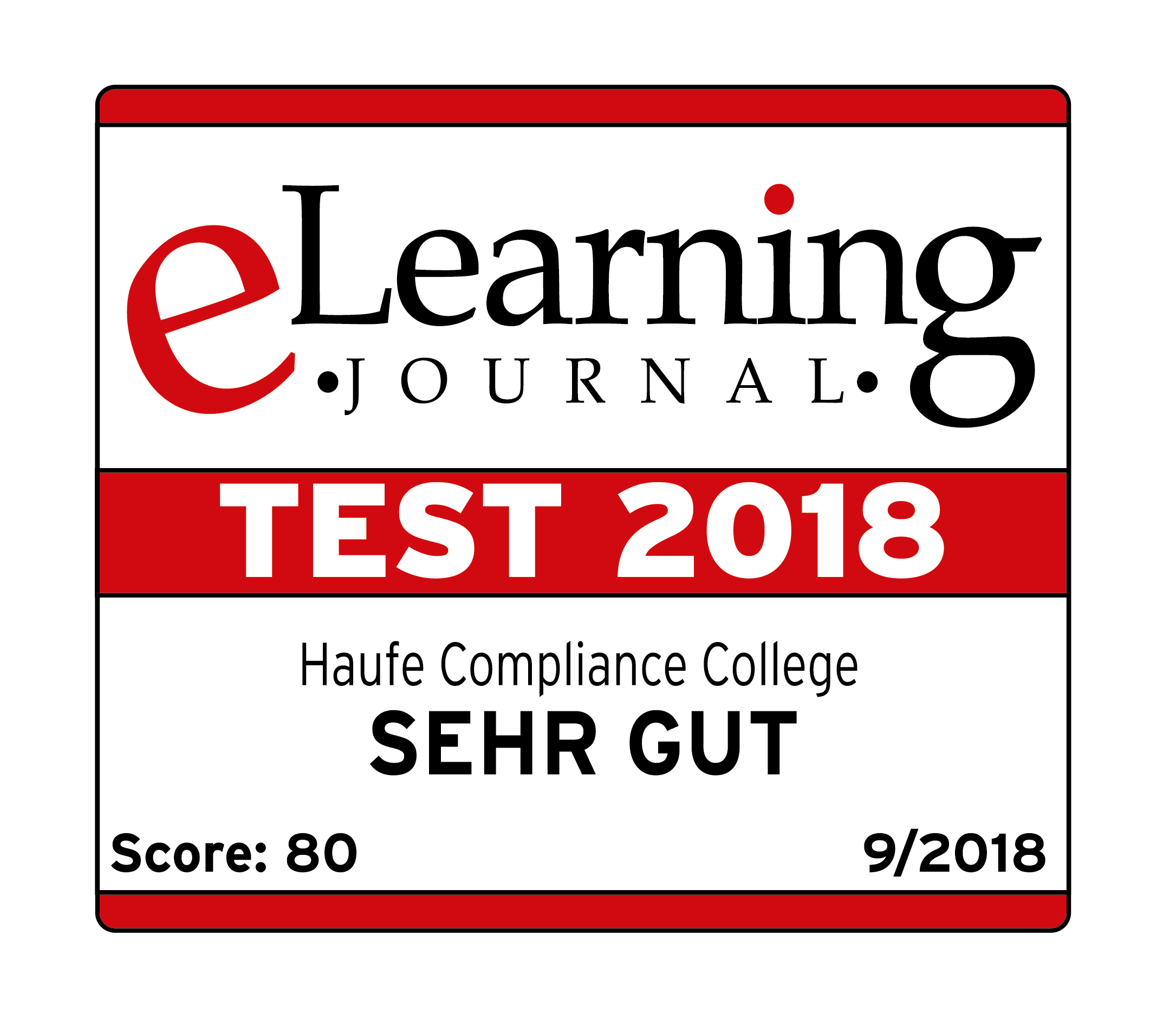 elearning journal test 2018 haufe compliance college note sehr gut
