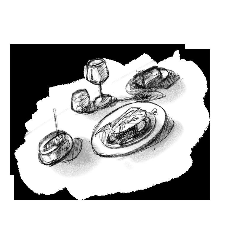 au petit vatel – maison illustration