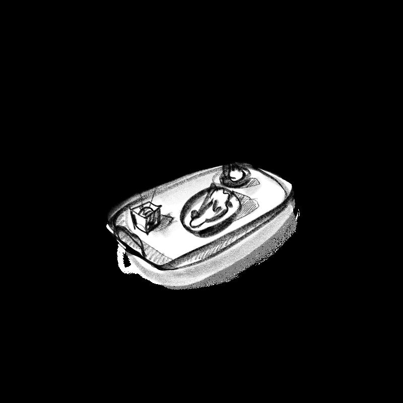 au petit vatel – bureau illustration