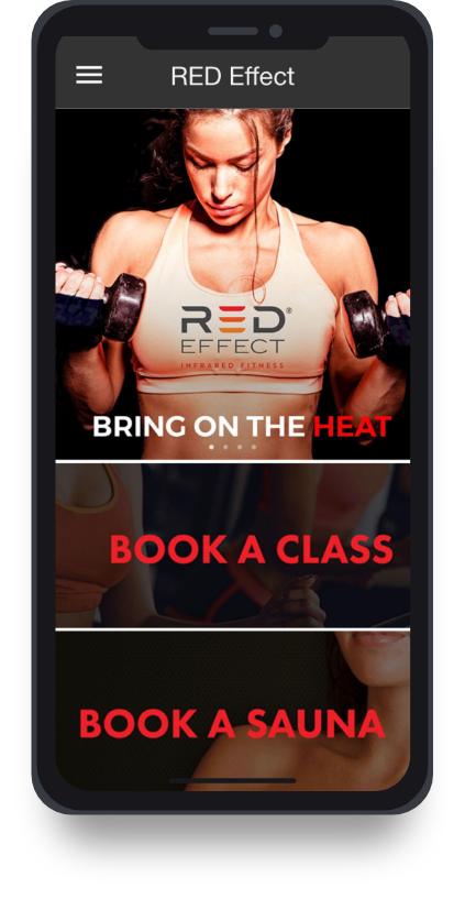 A screenshot of the Red Effect mobile app