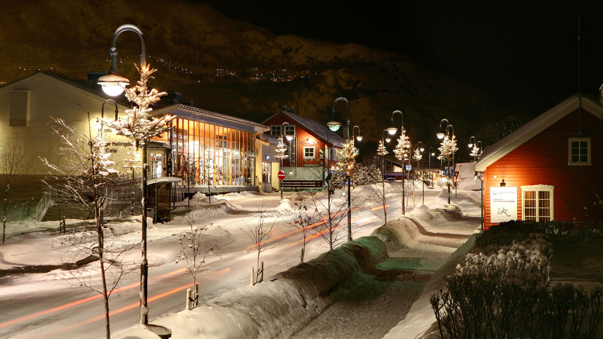 Hemsedal Sentrum. Foto Nils-Erik Bjørholt.