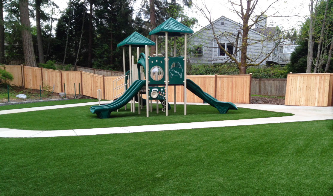 A commercial playground equipment.