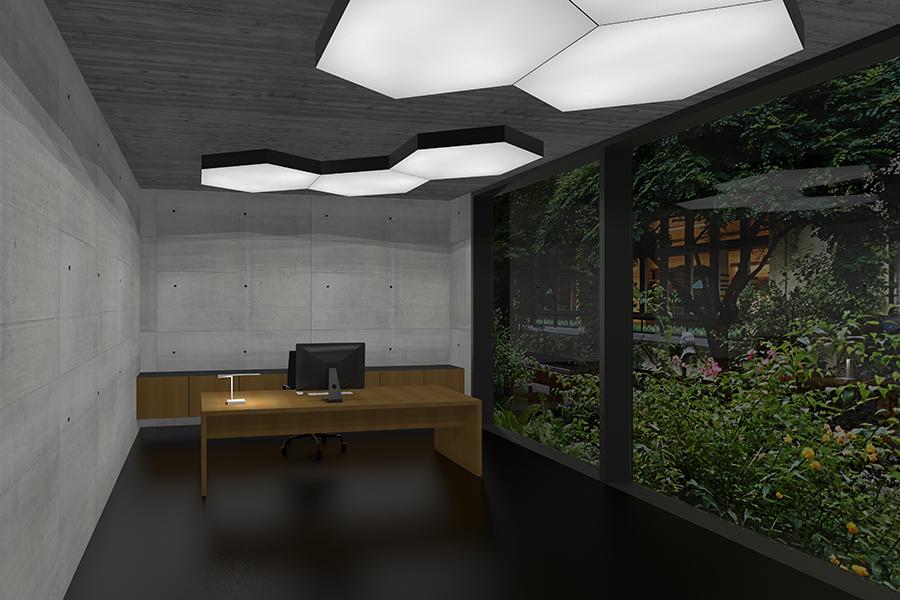 LED Lichtdecke Silentlight im Büro