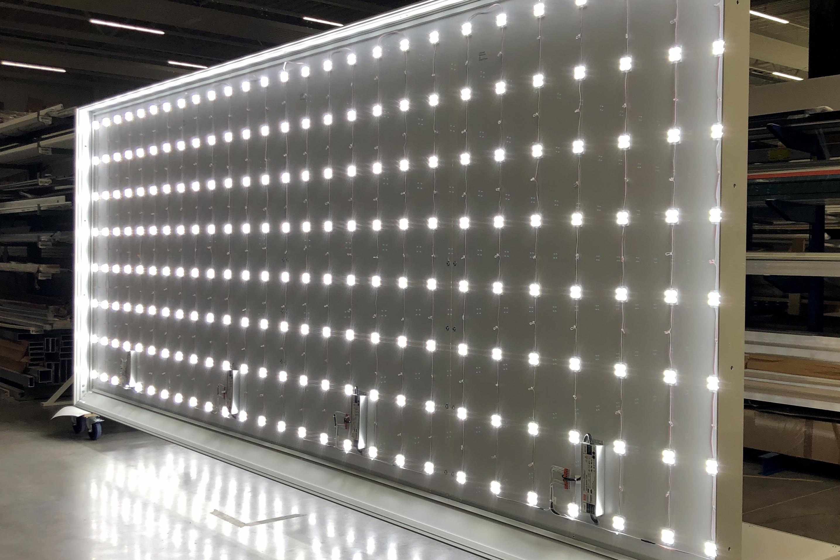 LED Leuchtkasten produktion