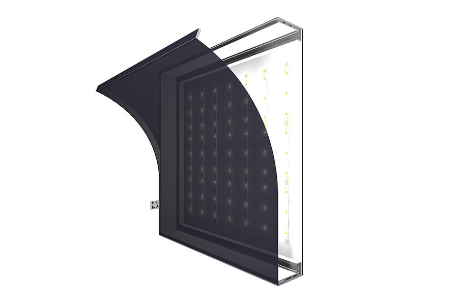 Leuchtkasten einseitig 60 mm